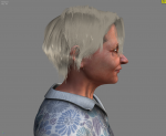 Sara character (side view)