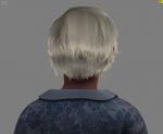 Sara character (back view)